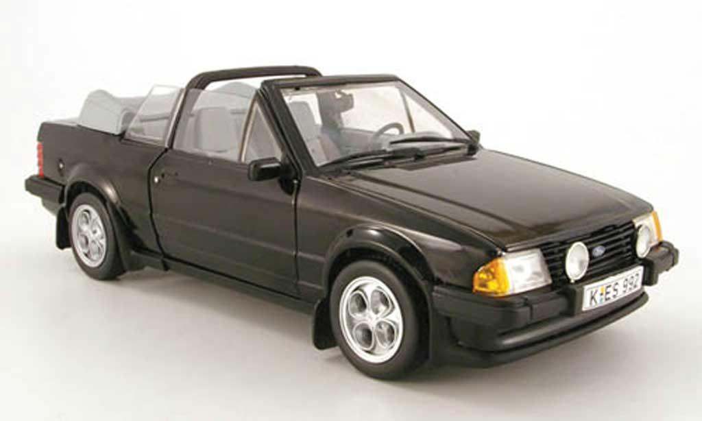 Ford Escort MK3 1/18 Sun Star xr3i cabriolet noir 1983 miniature