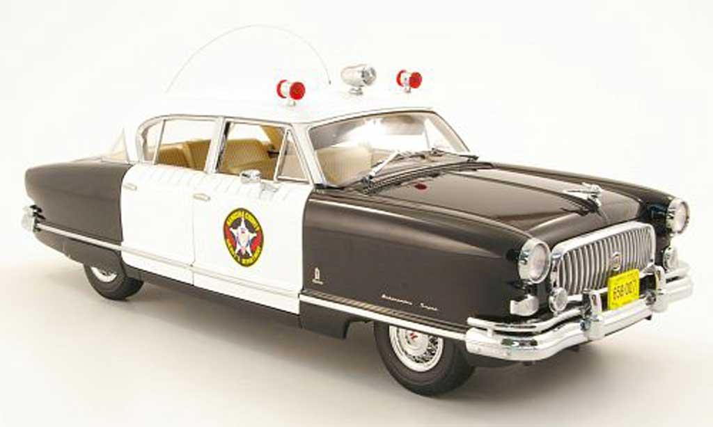 Nash Ambassador 1/18 Sun Star airflyte kenosha county sheriffs dept. polizei (us) 1952 miniature