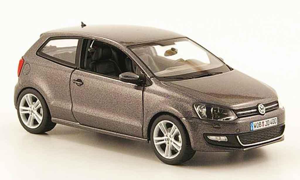 Volkswagen Polo 2009 1/43 Schuco gray diecast
