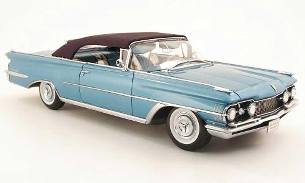 Oldsmobile 98 1/18 Sun Star convertible bleu/noire geschlossenes verdeck 1959 miniature