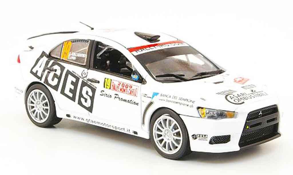 Mitsubishi Lancer Evolution X 1/43 Vitesse No.19 Rally Monte Carlo 2009 miniature