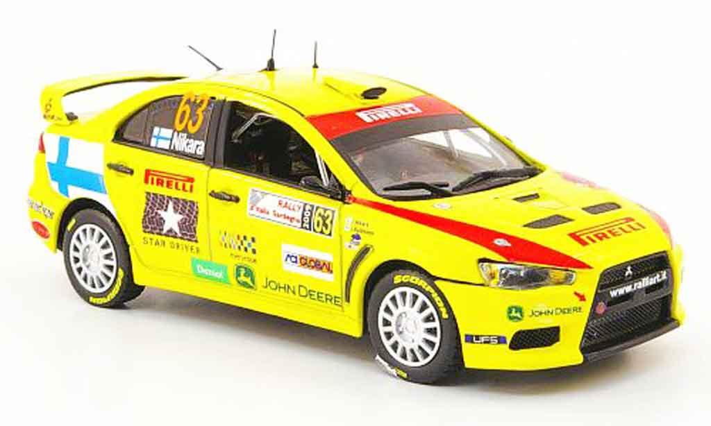 Mitsubishi Lancer Evolution X 1/43 Vitesse No.63 Rally D'Italia Sardegna 2009 miniature