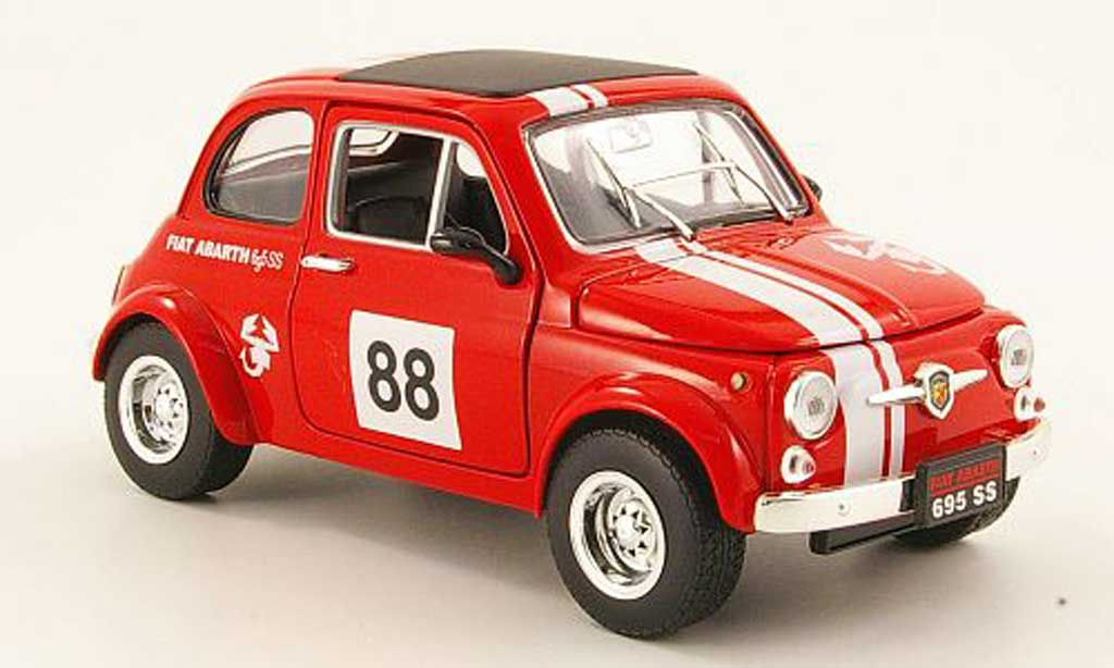 Fiat 500 Abarth 1/18 Mondo Motors 695ss red no.88 diecast