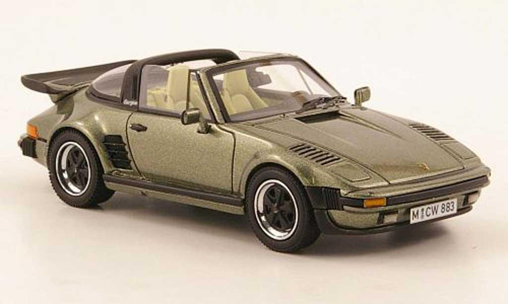 Porsche 930 Turbo 1/43 Neo SE Targa Flatnose verde lim. Aufl. 300 1987 miniatura
