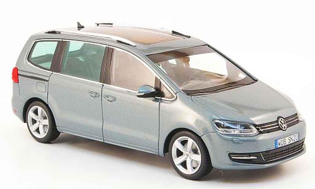 Volkswagen Sharan 1/43 Minichamps ii bleu 2010 miniature