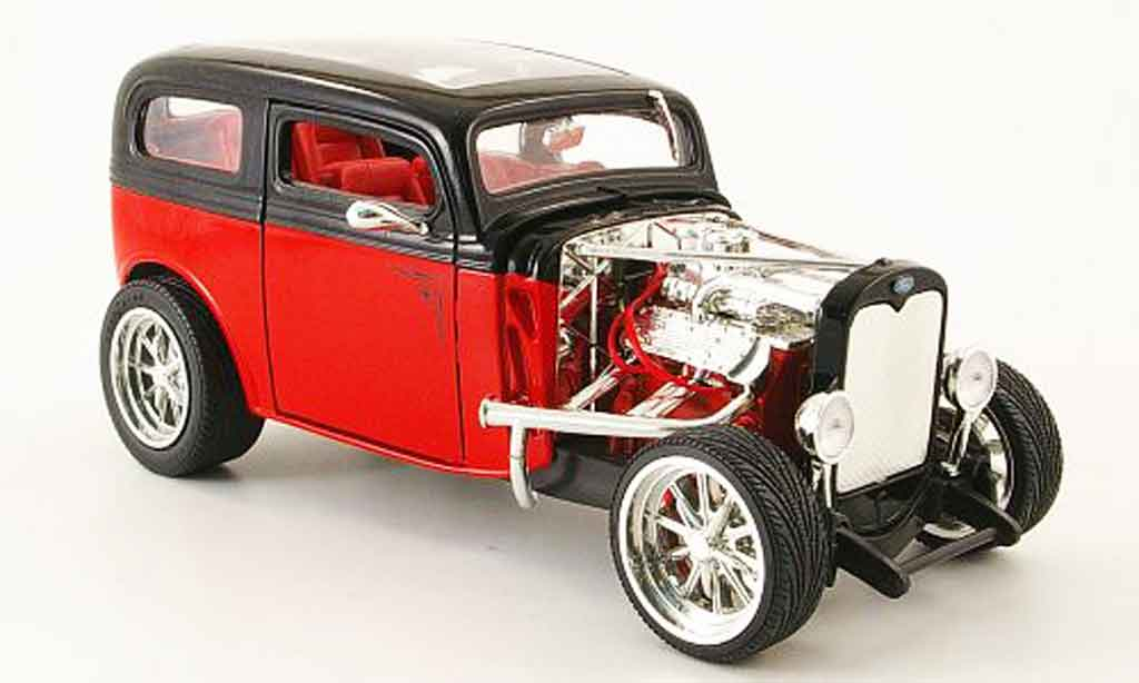 Ford Model A 1/18 Yat Ming custom rouge/noire 1931 miniature