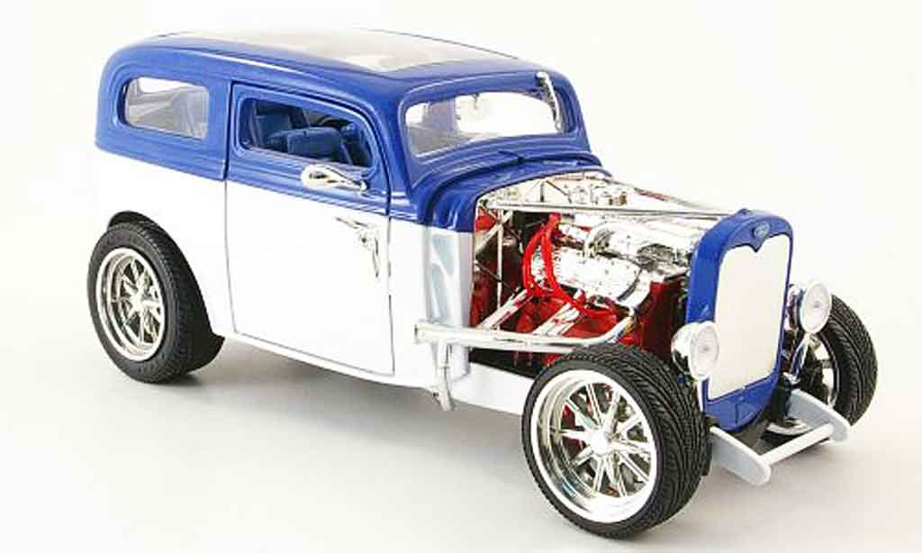 Ford Model A 1/18 Yat Ming custom blanche/bleu 1931 miniature