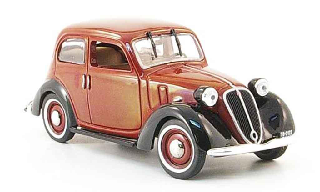 Fiat 1100 1937 1/43 Norev Nuova Balilla rouge noire miniature