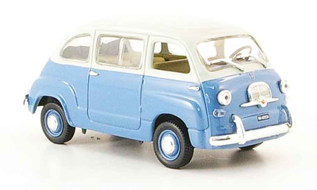 Fiat 600 1/43 Norev Multipla bleu blanche 1967 miniature