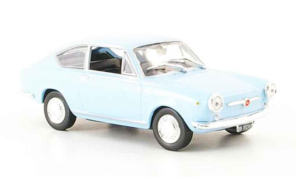 Fiat 850 1/43 Norev Coupe bleu 1965 diecast model cars
