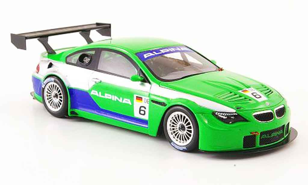 Bmw M6 E63 1/43 Spark Alpina B6 GT3 Prasentation 2008 diecast model cars