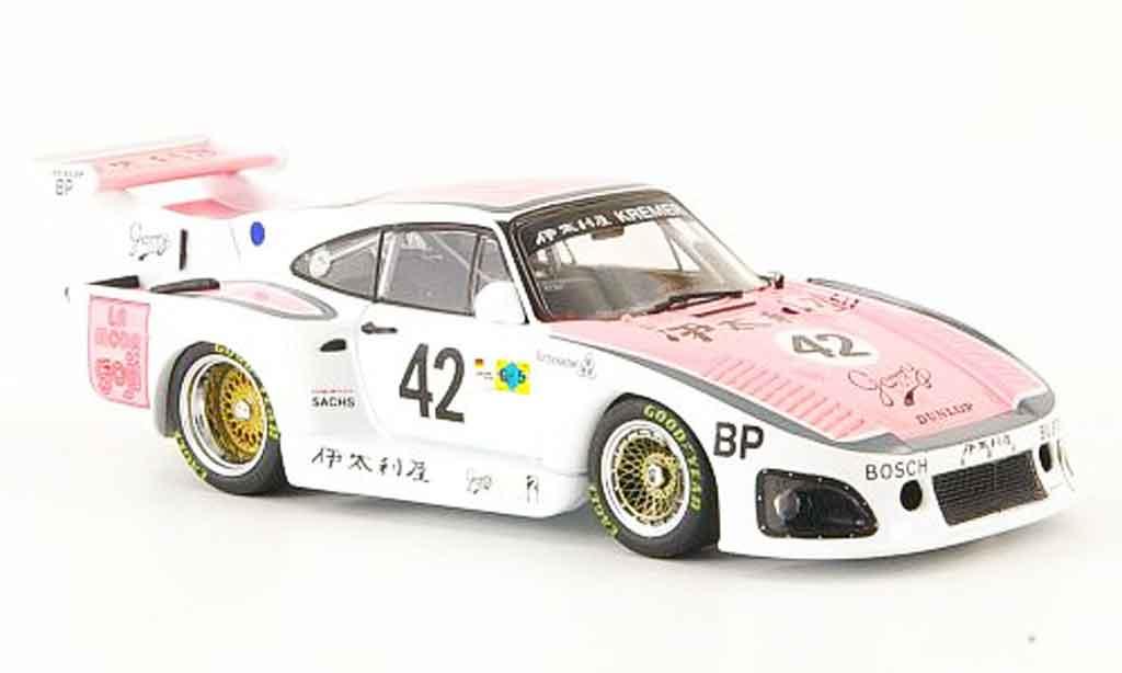 Porsche 935 1980 1/43 Ebbro Italya K3 No.42 24h Le Mans miniatura