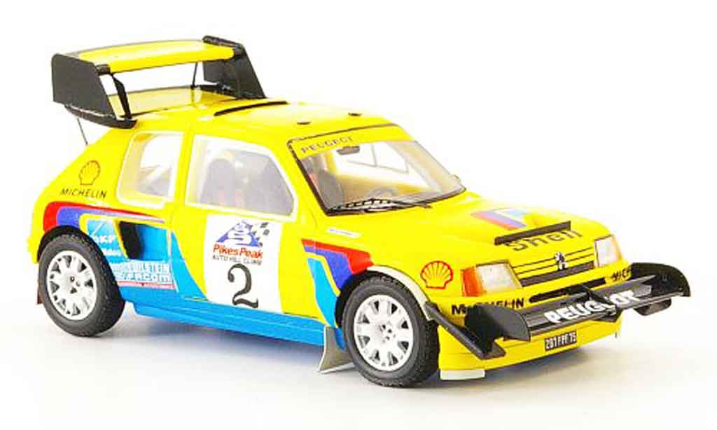 Peugeot 205 Turbo 16 1/43 Spark t16 no.2 pikes peak 1987 miniature