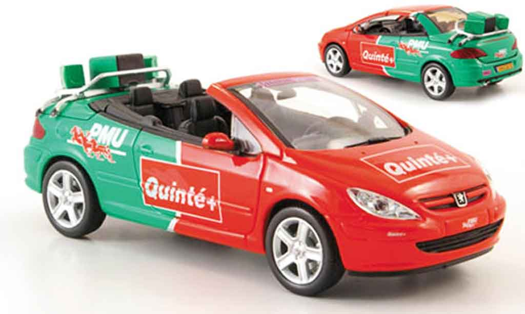 Peugeot 307 CC 1/43 Norev pmu quinte tour de france 2004 diecast model cars