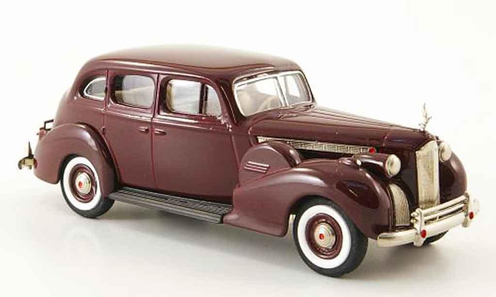 Packard Super 8 1/43 Rextoys Sedan rouge 1940 miniature