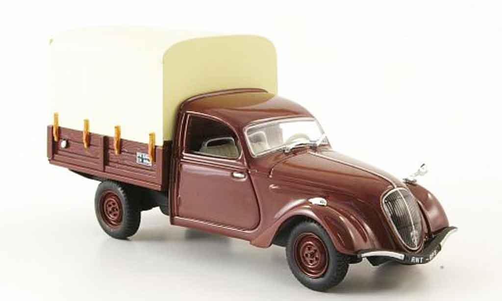 Peugeot 202 1/43 Norev camionette marron pritsche