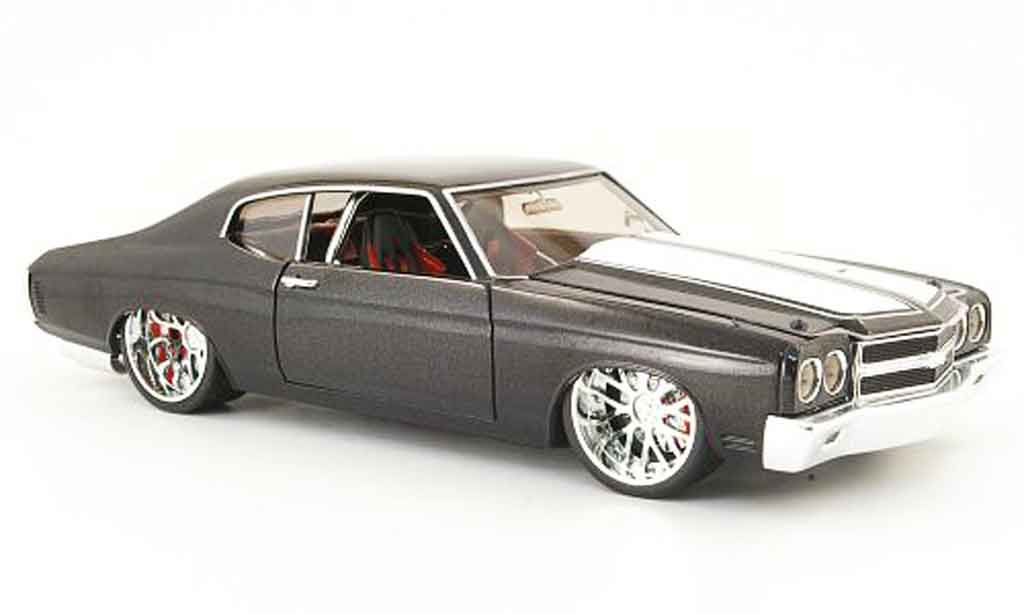 Chevrolet Chevelle 1970 1/18 Hot Wheels negro tuning version coche miniatura