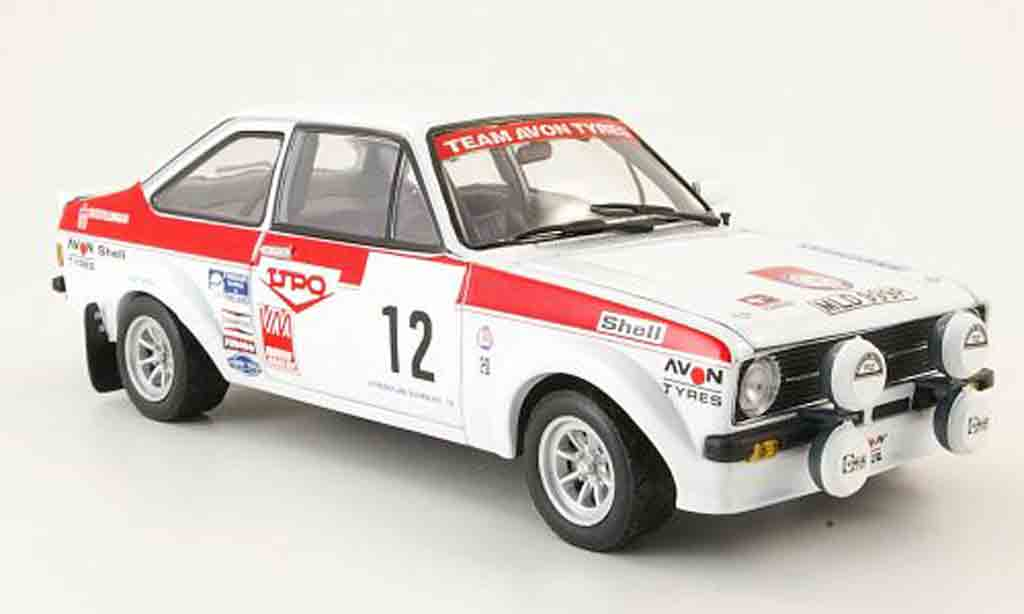 Ford Escort MK2 1/18 Sun Star MK2 no.12 upo 1000 lakes rallye 1976 miniature
