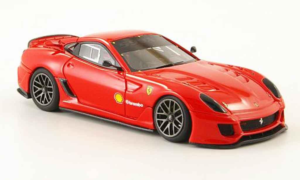 Ferrari 599 XX 1/43 Look Smart rosso rundenrekord nurburgring miniatura