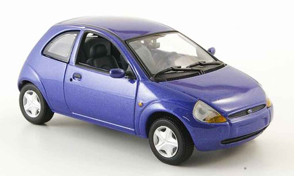 Ford Ka 1/43 Minichamps bleu miniature