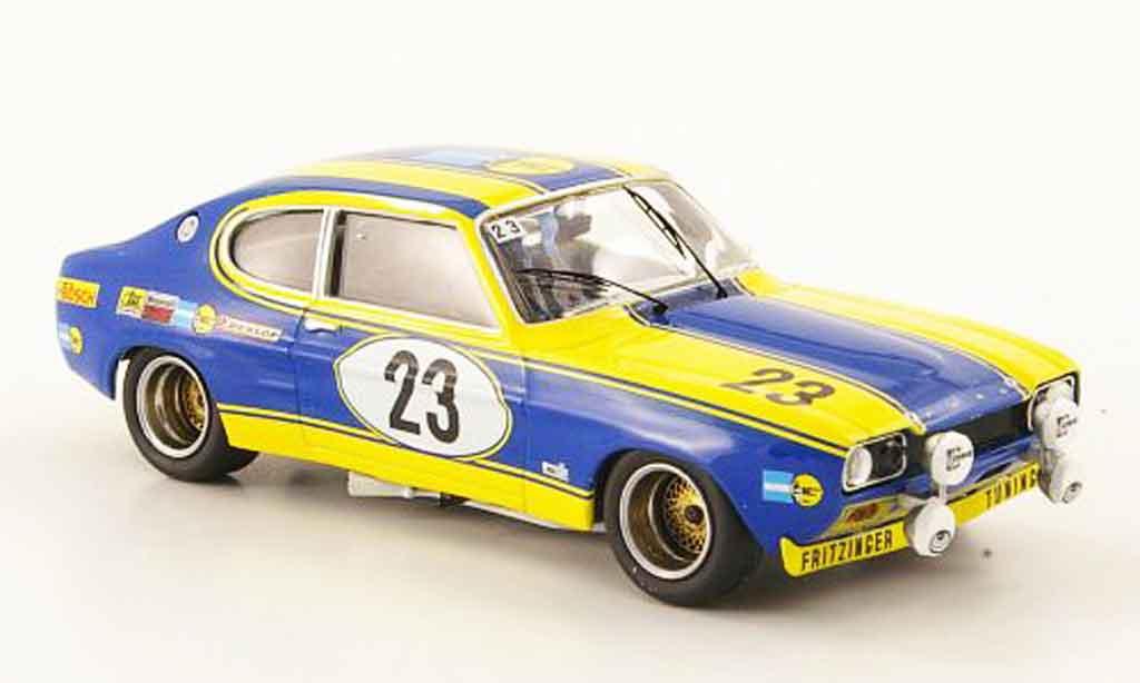 Ford Capri 2600 1/43 Trofeu  No.23 24h Nurburgring 1972 miniature