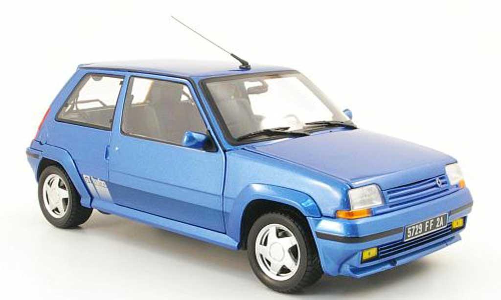 Renault 5 1/18 Norev GT Turbo bleu 1988 miniature