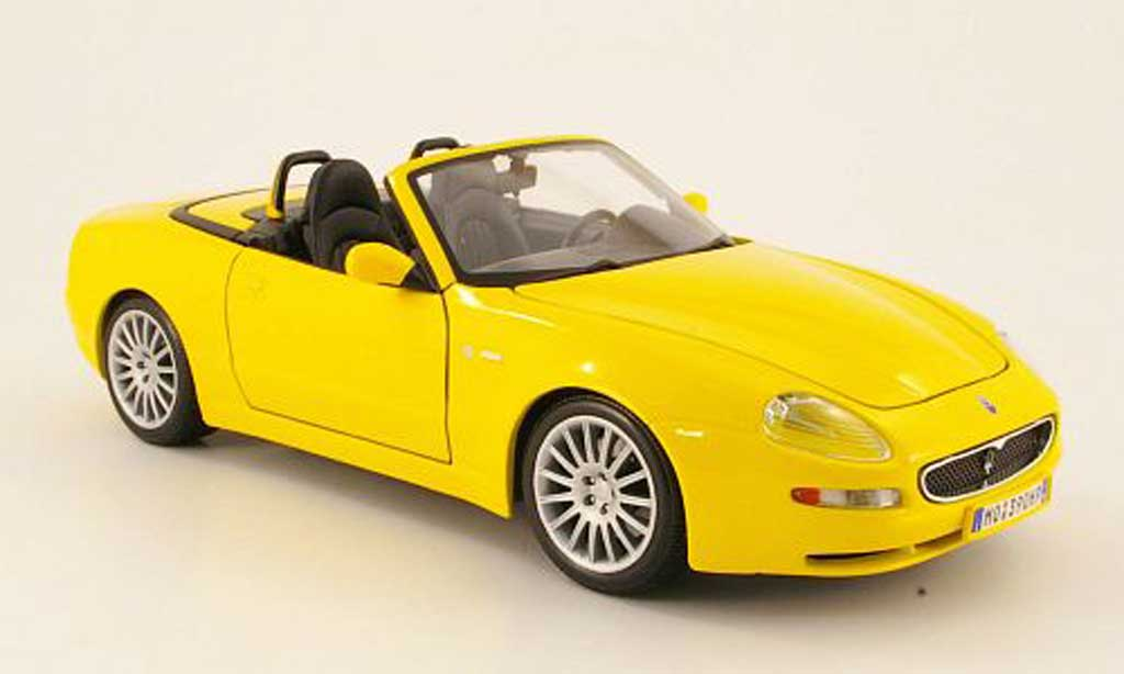 Maserati GT Spyder 1/18 Maisto jaune 2004 miniature