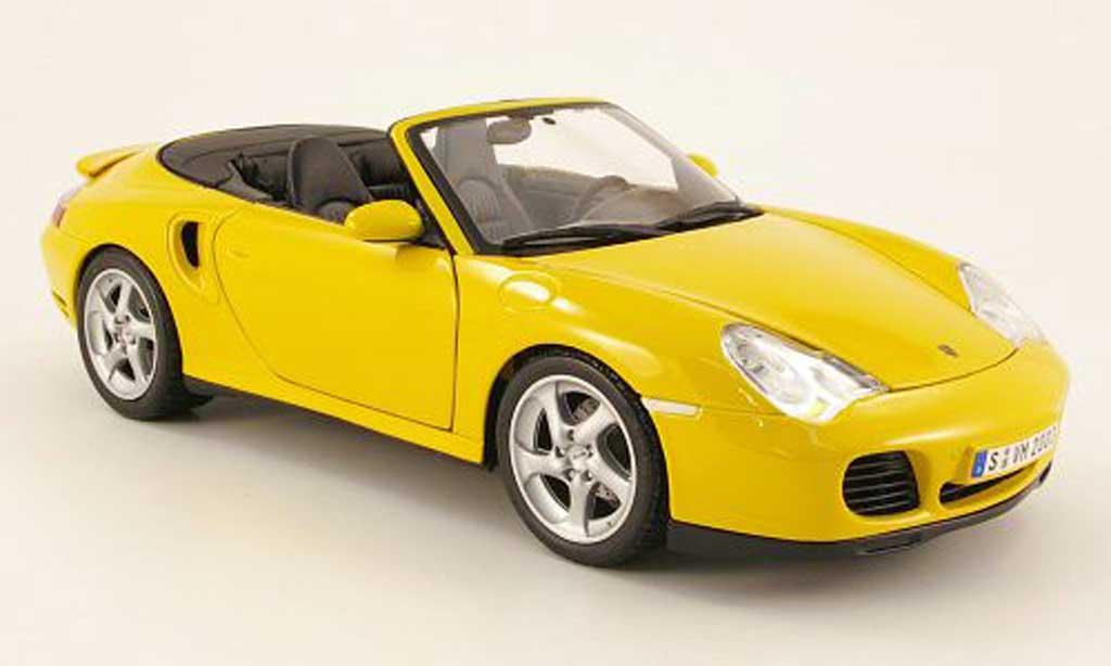 Porsche 996 Turbo 1/18 Maisto cabriolet yellow 2003 diecast