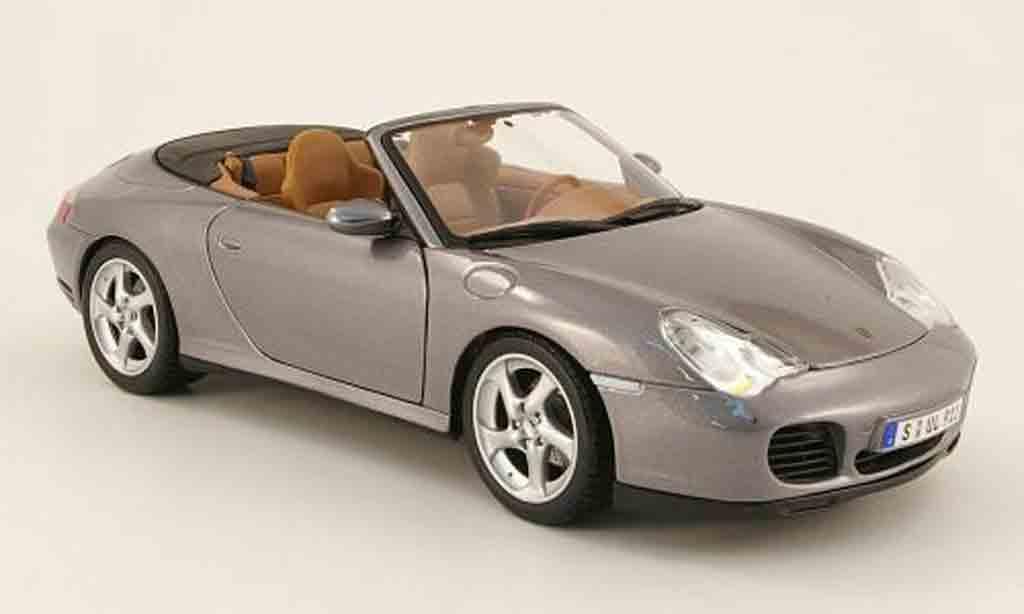 Porsche 996 Cabriolet 1/18 Maisto 4s gray 2003 diecast