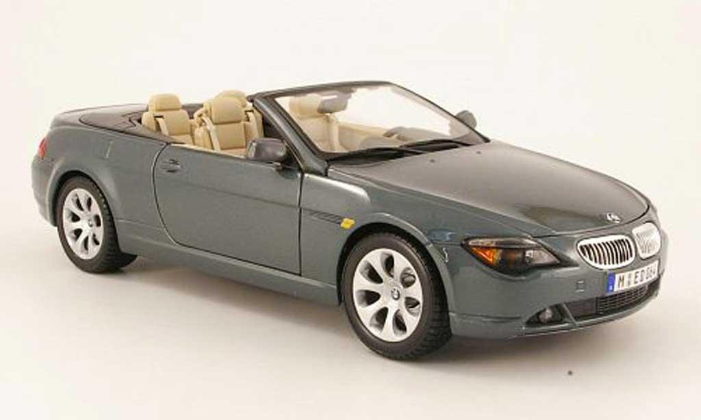 Bmw 645 E64 1/18 Maisto ci cabriolet grise 2004 miniature