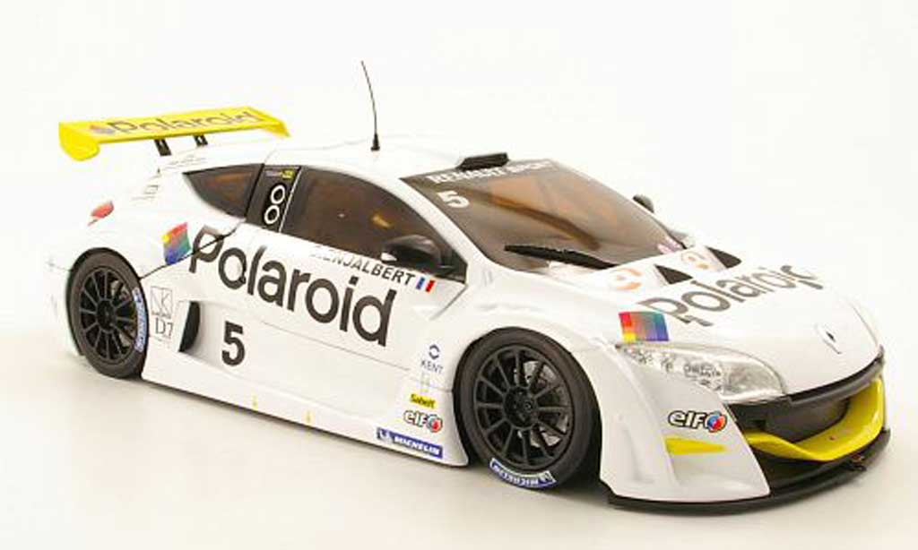 Renault Megane Trophy 1/18 Norev V6 No.5 Polaroid World Series 2009 D.Enjalbert miniature