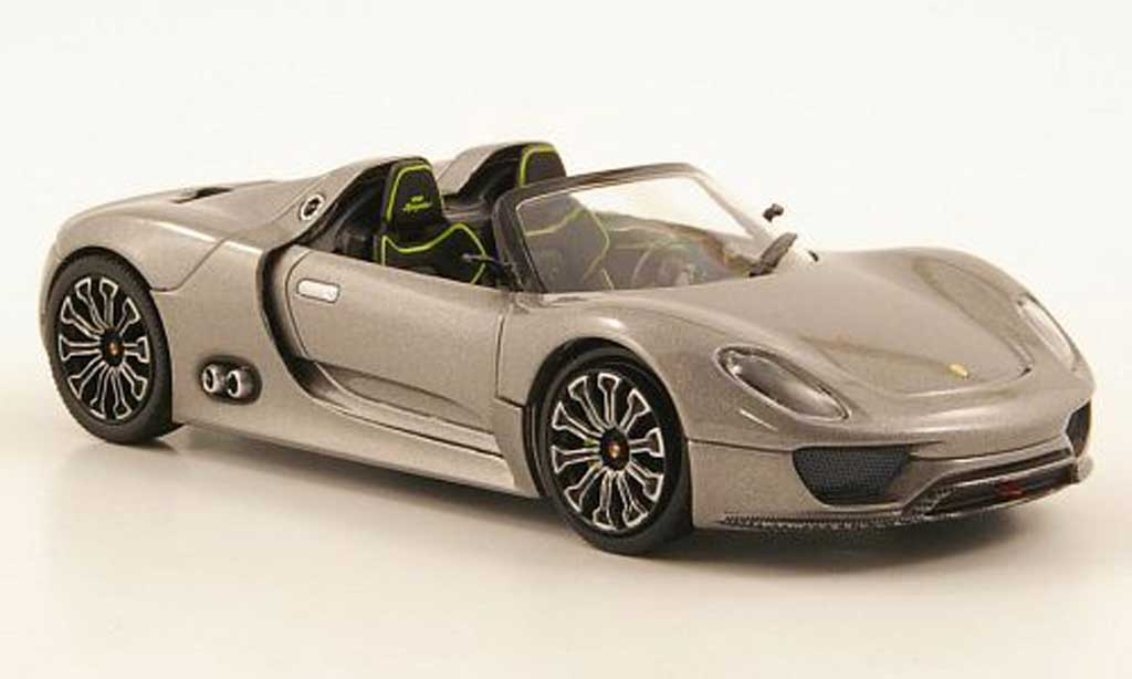 Porsche 918 2010 1/43 Minichamps Spyder grey diecast model cars