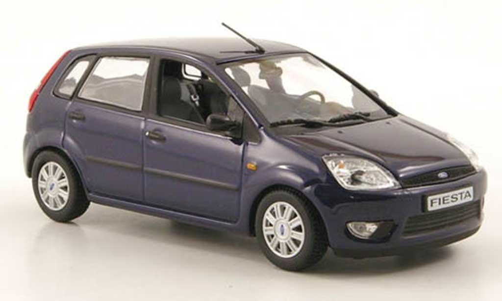 Ford Fiesta 2002 1/43 Minichamps bleu 5-portes