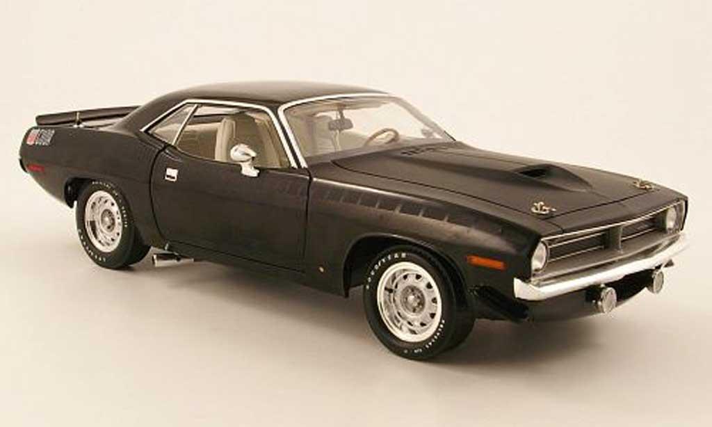Plymouth Cuda 1970 1/18 Highway 61 aar noir miniature