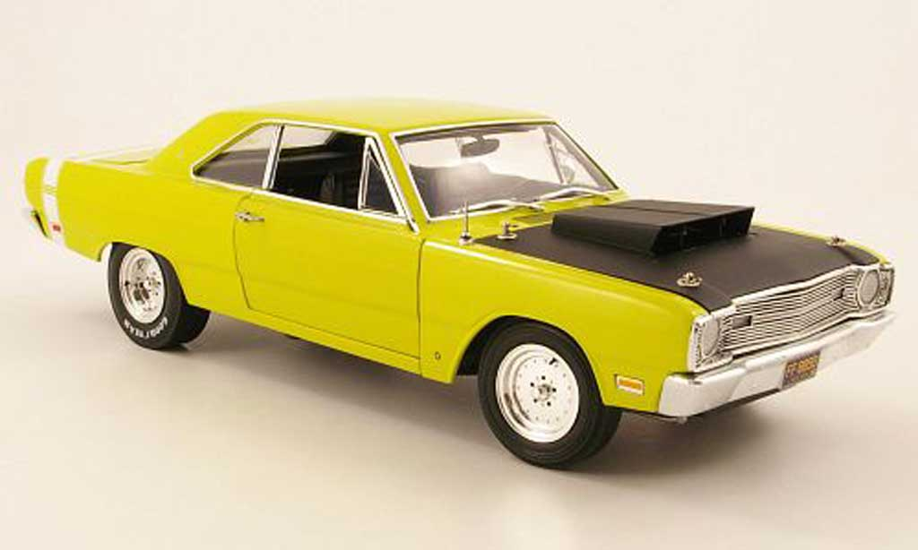Dodge Dart 1968 1/18 Highway 61 superstock yellowgrun/noir diecast model cars