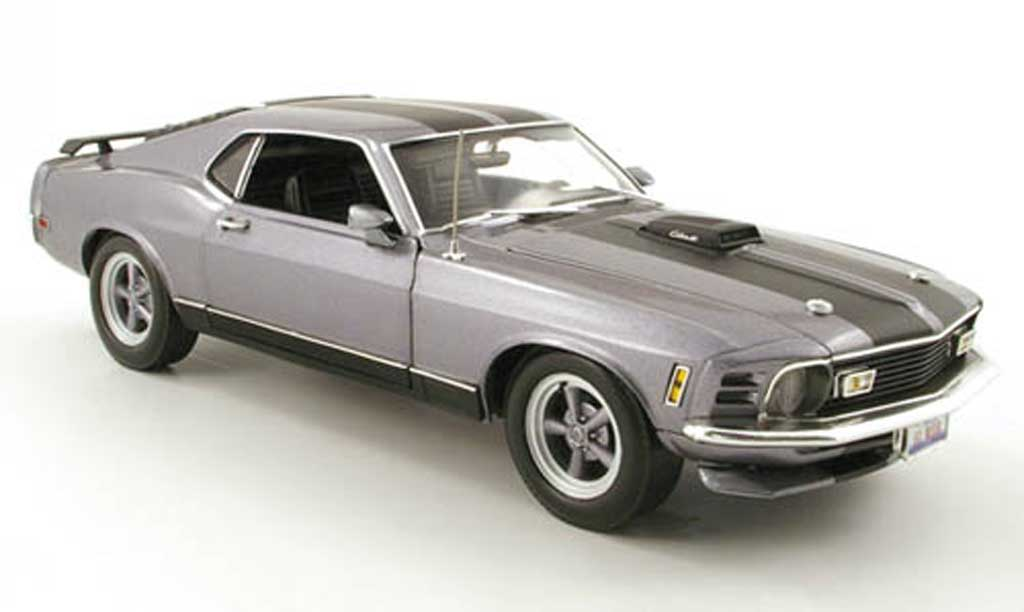 Ford Mustang 1970 1/18 Highway 61 mach 1custom grise miniature