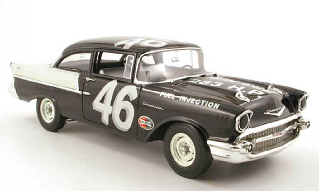 Chevrolet Bel Air 1957 1/18 Highway 61 150 no.46 speedy thompson black widow racer miniature