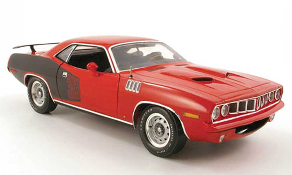 Plymouth Cuda 1971 1/18 Highway 61 383 rouge/noir miniature