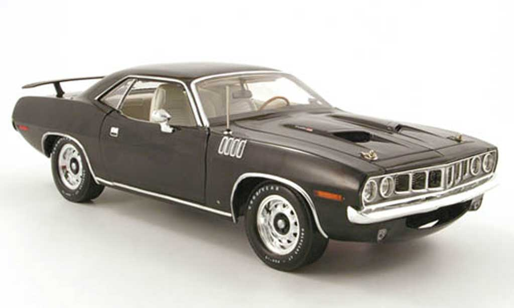 Plymouth Cuda 1971 1/18 Highway 61 383 noir diecast
