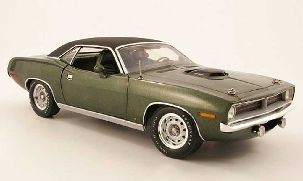 Plymouth Cuda 1970 1/18 Highway 61 hemi grun miniature