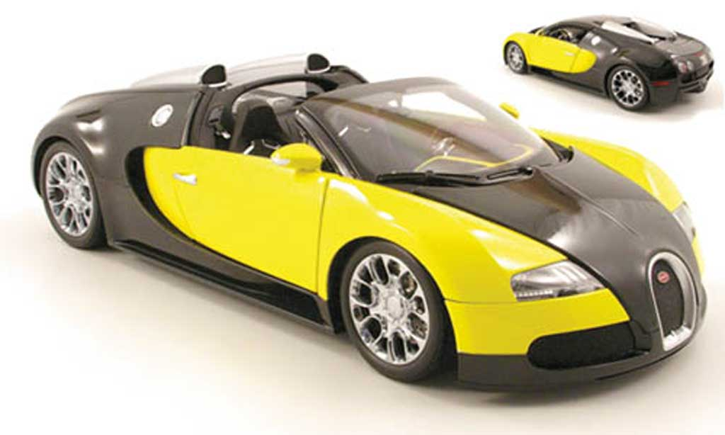 Bugatti Veyron Grand Sport 1/18 Minichamps noir/jaune 2009 miniature