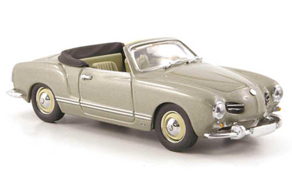 Volkswagen Karmann 1/43 Minichamps Ghia Cabriolet grise 1957 miniature