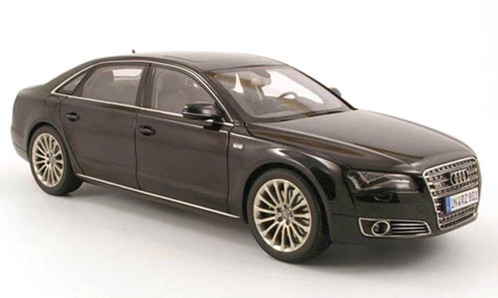 Audi A8 W12 1/18 Kyosho l nero 2010 miniatura
