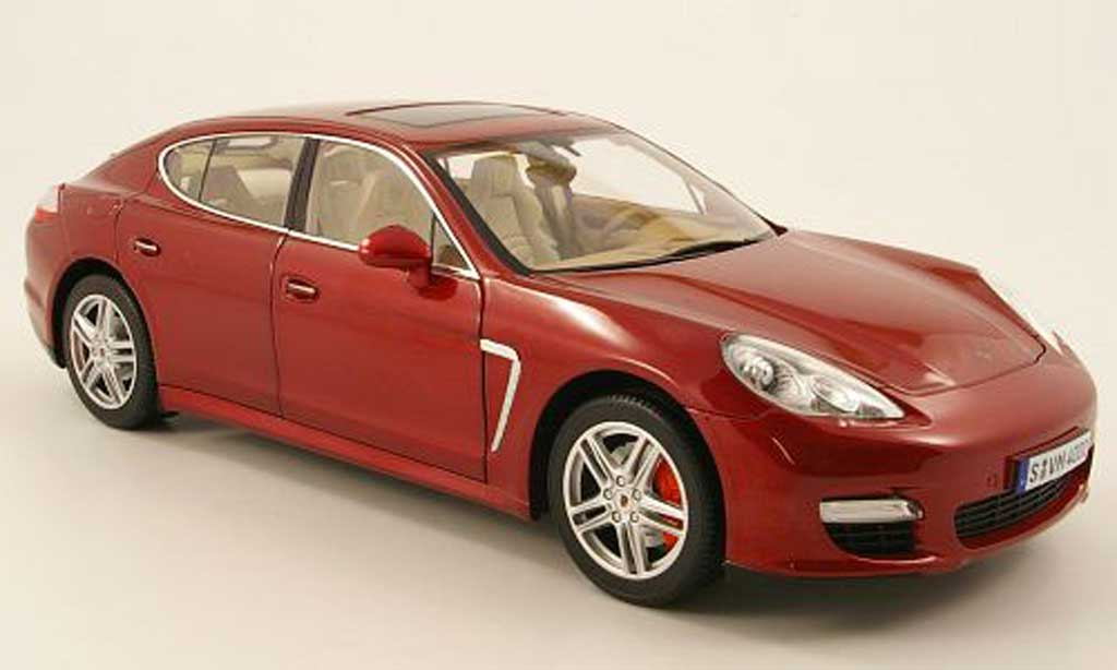 Porsche Panamera Turbo 1/18 Norev turbo rouge 2009 miniature