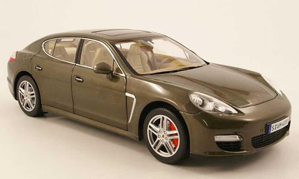 Porsche Panamera Turbo 1/18 Norev turbo marron 2009 miniature