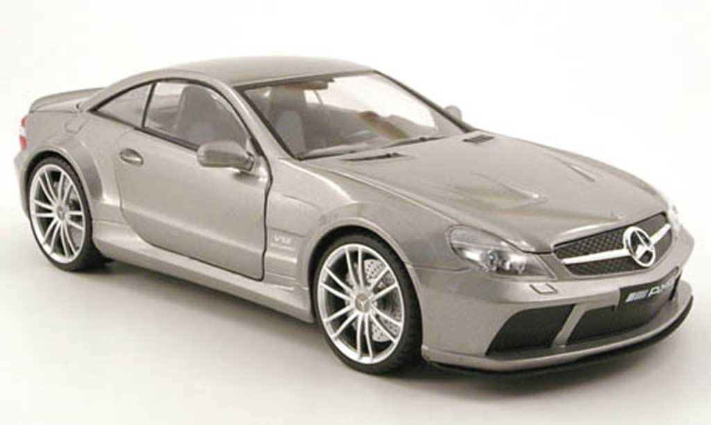 Mercedes Classe SL 65 1/18 Mondo Motors 65 amg black series grise 2009 miniature