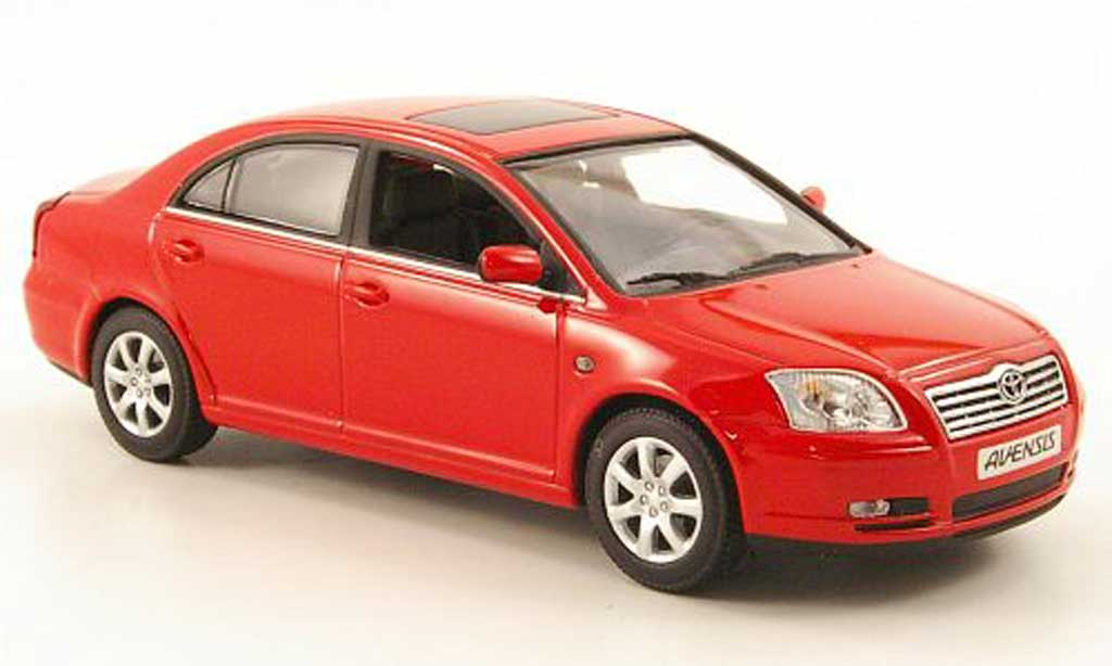 Toyota Avensis 1/43 Minichamps rouge 2002