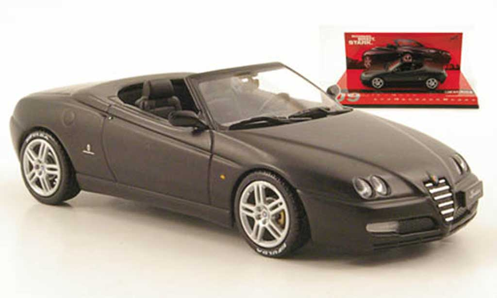 Alfa Romeo Spider 2003 1/43 Minichamps matt-black diecast model cars