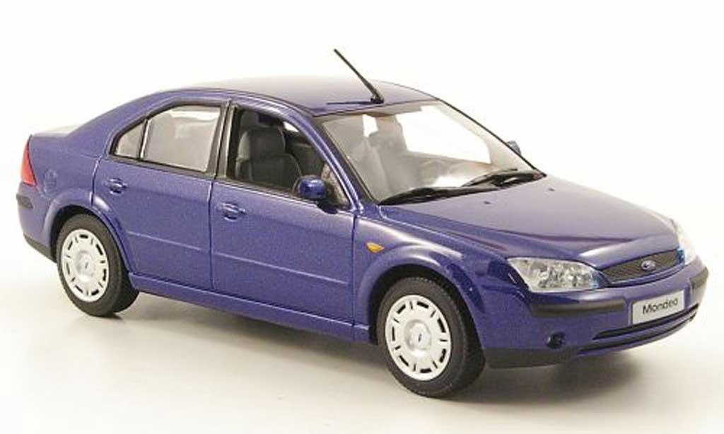 Ford Mondeo 2001 1/43 Minichamps MKIII bleu Stufenheck miniature