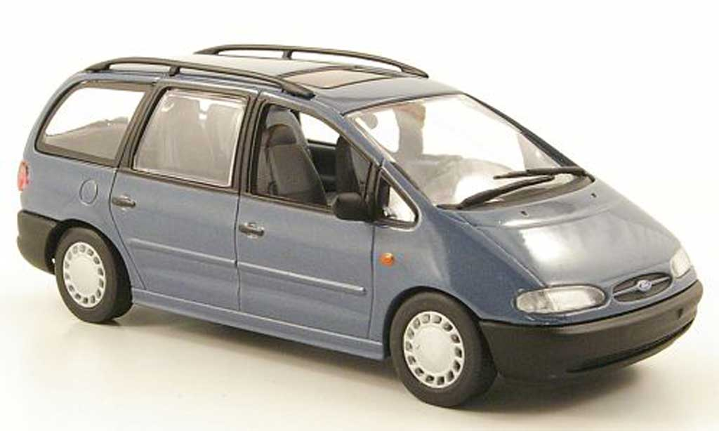 Ford Galaxy 1/43 Minichamps MKI bleugrise 1995 miniature